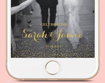 Snapchat Geofilter Wedding: Custom Geofilter, Snapchat Geofilter, Personalized Geofilter, Wedding Snapchat Filter, Custom Wedding, gift,