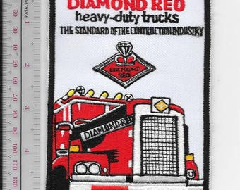 Vintage Truck Automotive Manufacturer Diamond Reo Heavy Duty Trucks Promo Patch red