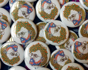 Terence McKenna Button Badge.