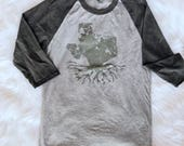 WINTER CLEARANCE // Texas Roots // State Pride // Texas Girl // UNISEX Raglan // Tri-blend // Comfy // Limited Quantity