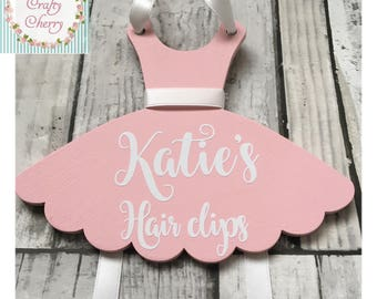 Personalised Hairclip Holder, Ballet tutu hairclip holder