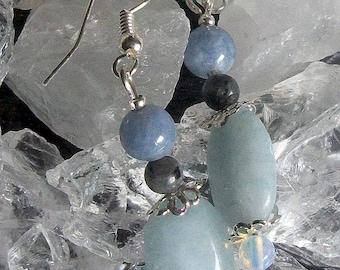 Aquamarine (gemstone) 925 Sterling Silver earrings