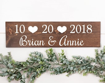 Wedding date sign | Special date sign | Custom wedding sign | Custom date | Wood wedding | Wedding decor | Wedding signs | Table signs