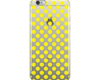 Yellow Polka Dots Pattern iPhone Case