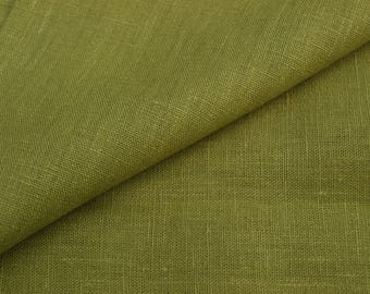 Olive Green Linen Fabric