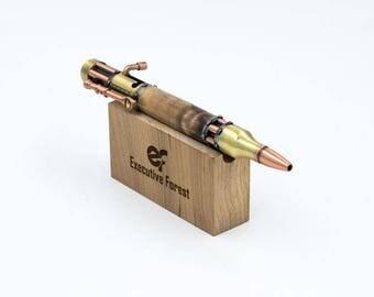 Steampunk Pen, Steampunk, Roller-ball Pen, Bold Action Pen, Bolt Action, Handmade Pen, Hand Crafted Pen, Hand Turned Pen, Turned Pen