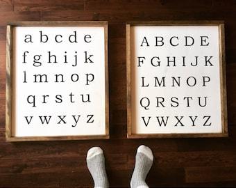 Alphabet Sign for kids room