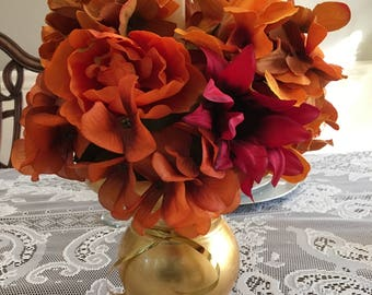 Fall Floral Candle Holder