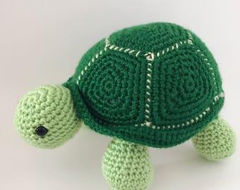 Turtle, amigurumi turtle, free US shipping, crochet turtle, blue turtle, birthday turtle, ready to ship