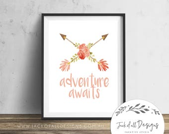 Adventure Awaits - Wall Art Print