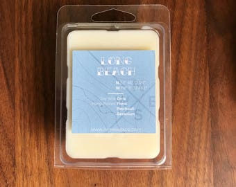 Long Beach || Scented Soy Wax Melts || California || Orris || Floral || Patchouli || Geranium