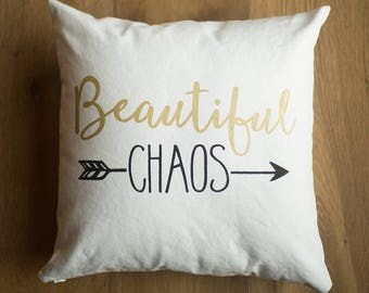 16x16 Beautiful Chaos Throw Pillow