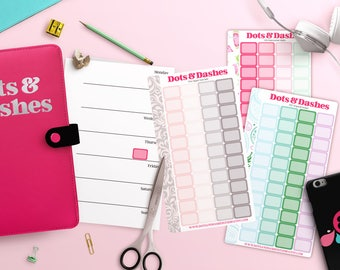 Personal Planner half boxes, Teeny Tiny box stickers, itty bitty planner stickers,  P04