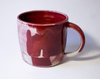 Hand thrown ceramic pottery, Porcelain mug, Tea Mug with a handle, Coffee Mug, Modern Mug, Pottery Mug, Hand built Mug, Ready To Ship