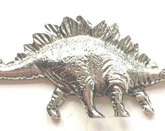 Stegosaurus Prehistoric Dinosaur Pewter Lapel Pin Badge
