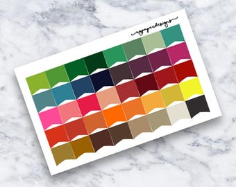 Page Flags   Planner Stickers   Multicolored   ECLP   Happy Planner   Functional