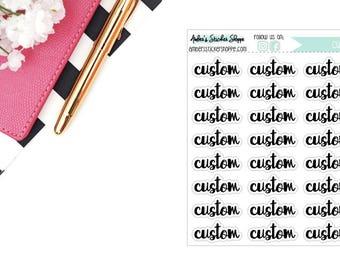 Cursive Custom Headers Labels Planner Stickers