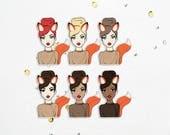 Foxy Girl - Die Cuts