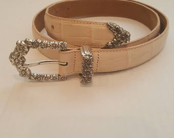Brighton pink leather belt size large
