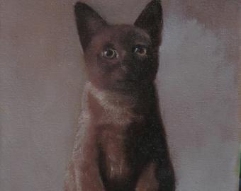 cat art print cat artwork cat painting cat oil painting custom pet portrait