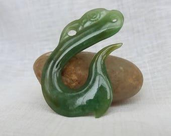 Maori Pounamu Jade Nephrite  Pendant Fish Hook Hai Matua Greenstone New Zealand Jewelry  Uk