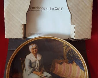 Norman Rockwell Collectable plate Reminiscing in the Quiet