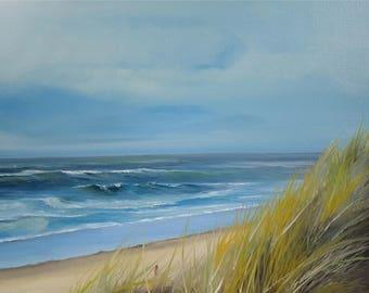 Beach sea North Sea Holland oil painting Sea