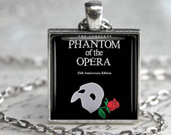 Phantom of the Opera Book Necklace Literary Jewelry Literary Gift Literature Necklace Literature Jewelry Phantom of the Opera keyfob