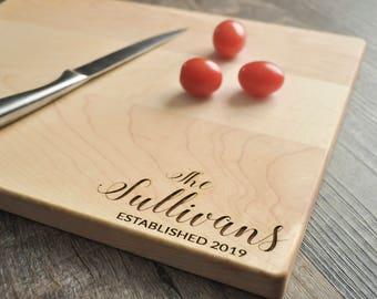 Custom Cutting Board - Engraved Cutting Board, Personalized Cutting Board, Wedding Gift, Housewarming Gift, Anniversary Gift, Christmas Gift