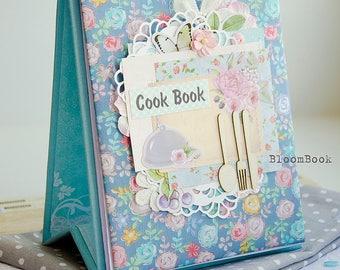 Cook Book, Recipe Book, Shower Recipe Book Gift, Recipe Binder, Cook Gift, Blank Recipe Book, Family Recipe Book, Handmade Recipe Book