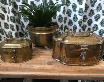 3 Piece Vintage Brass Grouping