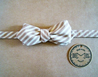 Bow tie adjustable classic or sharp stripes to order