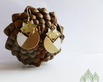 """Fox """"Gold Fox"""" leather earrings"""