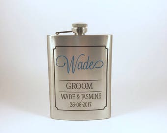 Personalised hip flask, hip flask personalised, personalised flask, flasks , pocket flask, groomsmen gift