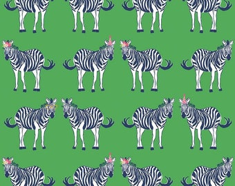Safari Main Green With Sparkle from Safari Party by Melissa Mortenson for Riley Blake - 1/2 yard