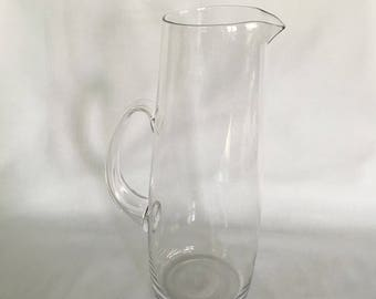 Elegant Clear Glass Water Pitcher