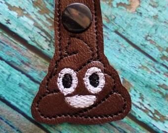 Poop Emoji Mini Keychain