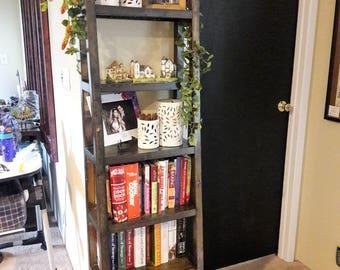 Rustic Angled Book Shelf