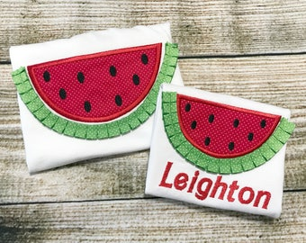 Watermelon Shirt - Summer Shirt - One in a melon Shirt - Embroidered  Shirt - Embroidered Girls Shirt - Personalized Shirt - Monogram Shirt