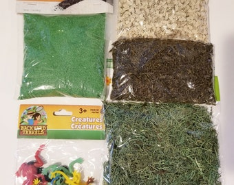 Frog Sensory Bin Set: Montessori Toys, Sensory Bin Activity, Play Time for Toddlers, Discovery Learning, Pretend Play, Pond, Amphibians