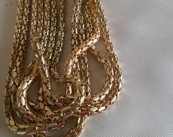 multi strand  gold tone  necklace