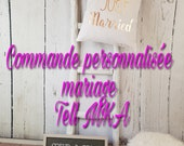 COMMANDE PERSONNALISEE MARIAGE