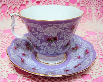Beautiful Vintage Royal Albert TRUE LOVE Cup & Saucer.