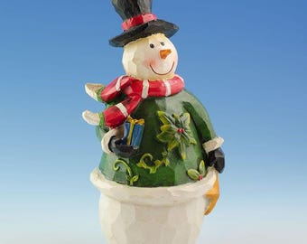 "5"" Hand Painted Snowman Figurine"