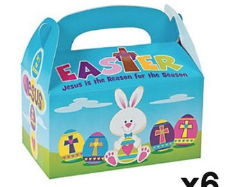 Set of 6 Easter Hunt Paper Gift Box