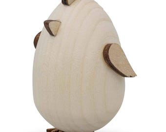 "2.5"" Blank Unfinished Wooden Chick Figurine"