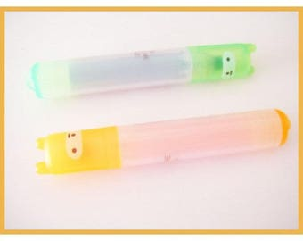♥ stationery - two highlighters fluorescent orange and green kawaii ♥