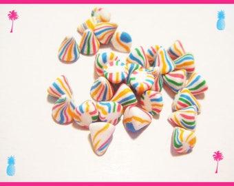 ♥ 30 miniature berlingots Fimo polymer clay for jar ♥