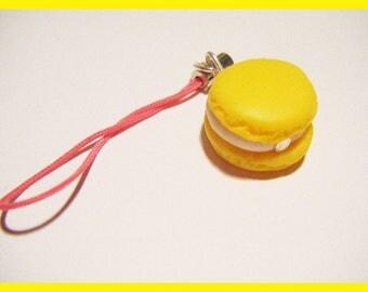 Phone charm strap portable fimo macaroon candy treats