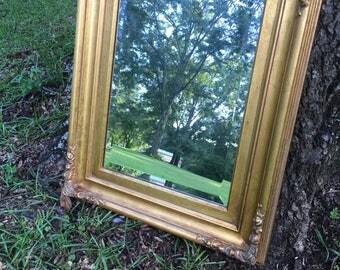 Square Mirror, Ornate, Vintage, Gypsy Style,